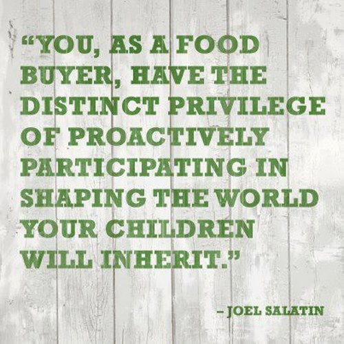 Wise words from Joel Salatin