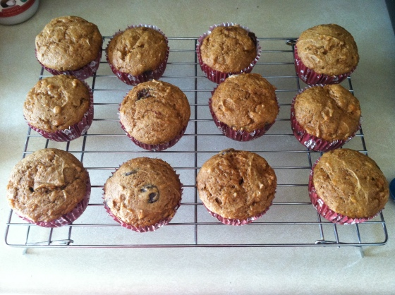12 Sweet Potato Chocolate Chip Muffins (Real food in a Real World)