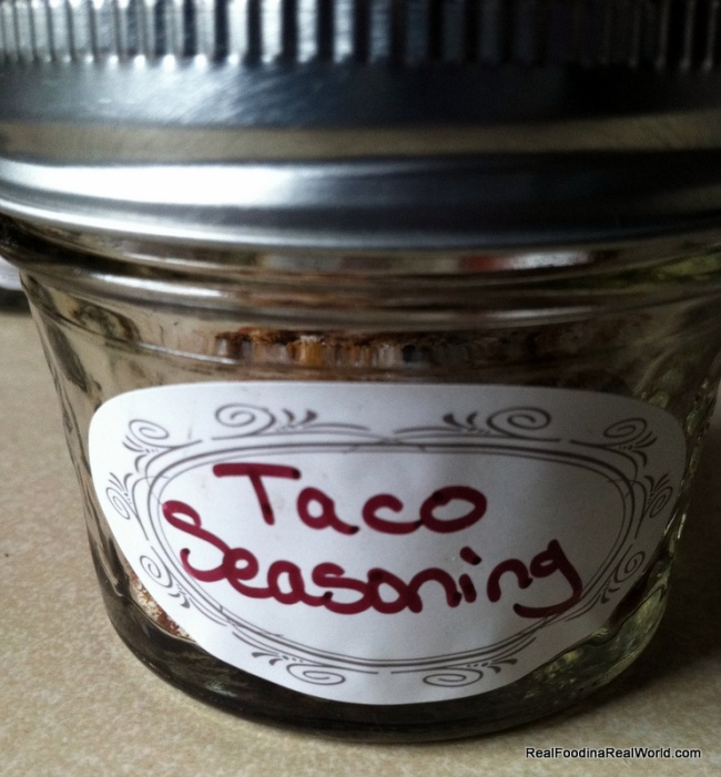 Homemade Taco Seasoning realfoodinarealworld.com